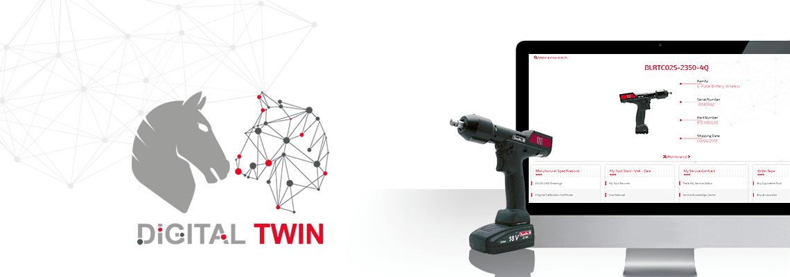 Accédez à la réplique virtuelle exacte de votre outil d'assemblage Desoutter via le Digital Twin, accessible 24/7 !