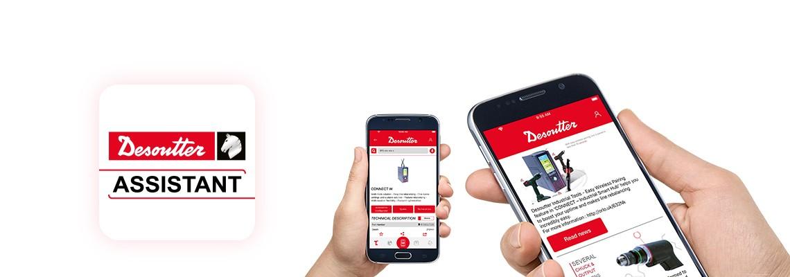 Téléchargez l'application Desoutter Assistant pour rester à jour avec nos produits d'assemblage et de perçage et obtenez un accès facile à tous nos services.