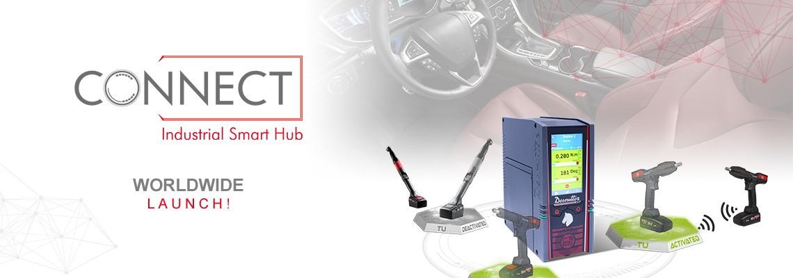 Nous sommes fiers de vous présenter notre nouveau Hub Industriel Connecté appelé CONNECT : une solution Desoutter 4.0 !