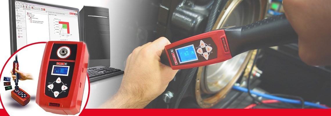 Le contrôleur de couple Alpha conçu par Desoutter Tools vous permet de contrôler & collecter les résultats de vérification de couple à partir des visseuses, clés dynamométriques ou encore clés à déclenchement