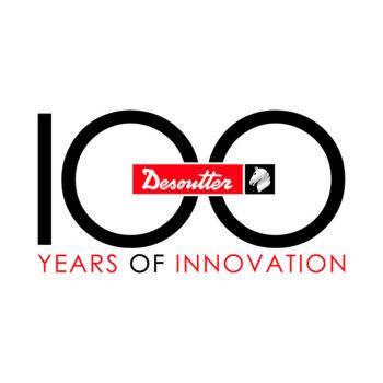 Logo du 100ème anniversaire de Desoutter